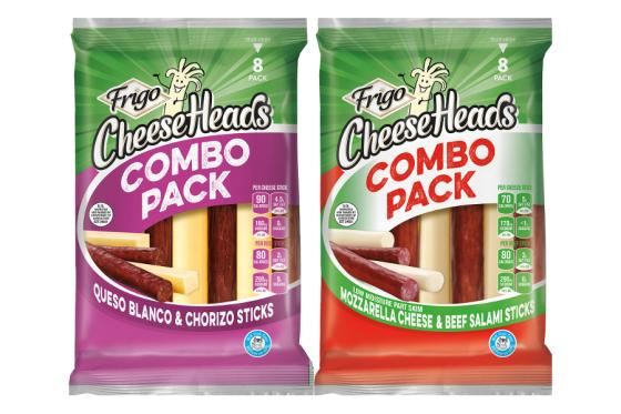 c1971c80f157 Frigo Cheese Heads Combo Packs from Saputo Cheese USA Inc. marry different  varieties of cheese sticks with meat snacks featuring bold flavor profiles