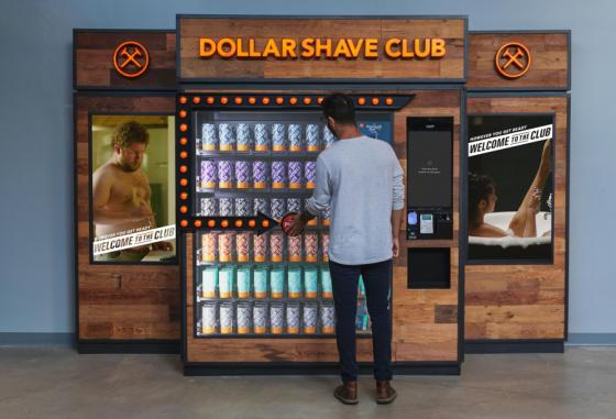 Dollar Shave Club Seeks to Automate Personal Care Category With Vending Machines