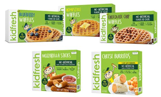 Kidfresh Mozzarella Sticks, Burritos and Waffles